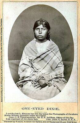 £3.99 • Buy Native American Indian Portrait One Eyed Dixie 1873 Photo Art Print Poster