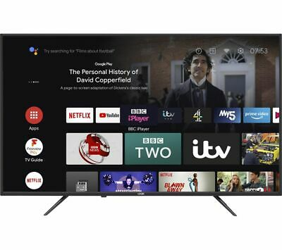 £349.99 • Buy LOGIK L50AUE21 Android TV 50  Smart 4K Ultra HD HDR LED TV With Google Assistant