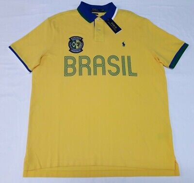 £49.45 • Buy Polo Ralph Lauren Mens The Classic Fit Brazil Yellow Polo Shirt Size Large
