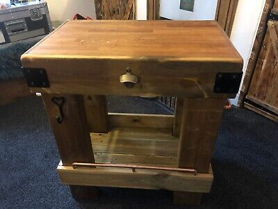 £365 • Buy Oak Kitchen Island Butchers Block - Rustic Style Made From Reclaimed Wood