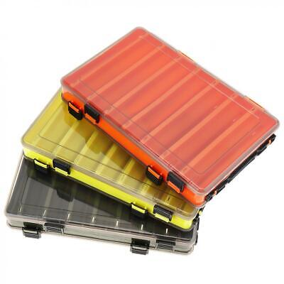 AU15.99 • Buy 14 Compartments Double Sided Fishing Lure Tackle Storage Box Case Container AU