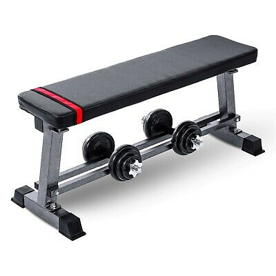 £49.99 • Buy Adjustable Heavy Weight Lifting Flat Bench Home Gym Chest Biceps Fitness Workout