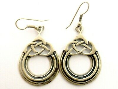 £94.99 • Buy Vintage Sterling Silver Earrings By Ola Gorie Celtic Knot Circle Design Scottish