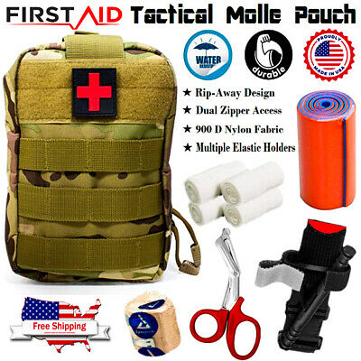 $32.99 • Buy Molle Pouch Tactical Trauma Kit - First Aid Emergency Survival Military Bag IFAK