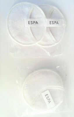 £3.29 • Buy ESPA 2 SEALED ESPA Branded Cotton Face Cleansing Mini Mitts Wash Cloth Pads NEW