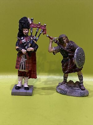 £11 • Buy Sculptures UK William Wallace Braveheart Figure And Scottish Piper With Bagpipes