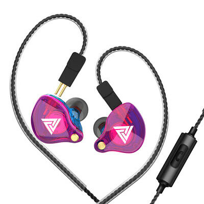 $ CDN24.05 • Buy QKZ VK4 3.5mm Wired Headphones In-ear Sports Headset Moving Coil Music T0Q2