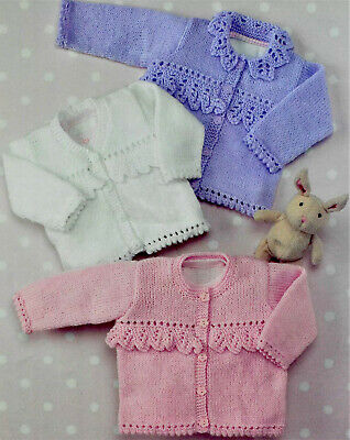 £2.79 • Buy Baby Girls  Knitting Pattern For Cardigans In DK  To Fit Birth- 6years   B34