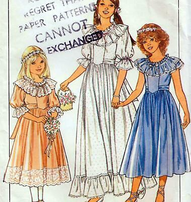 £6.29 • Buy Vintage 80s GIRLS BRIDESMAID & PARTY DRESS Sewing Pattern MULTI SIZE 8 10 12