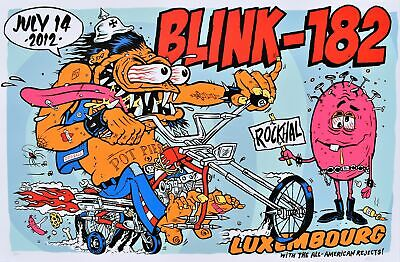 $104.19 • Buy Blink 182 Concert Poster 2012 Luxembourg
