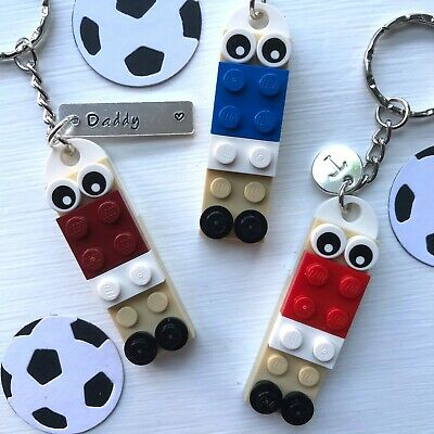 £5.99 • Buy Football Keyring Keychain Made With LEGO ® In Team Colours CAN BE PERSONALISED