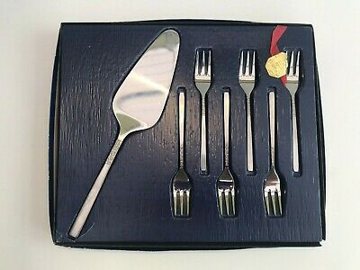 £19.99 • Buy Vintage Viners Of Sheffield Stainless Steel Love Story 7 Piece Pastry Cake Set