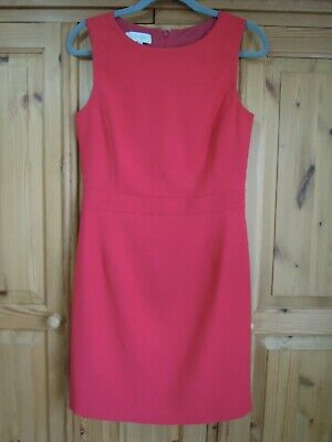 £19.99 • Buy Hobbs Jackie O Style Red Stretch Shift Dress Size 10 Occasion Business Wear