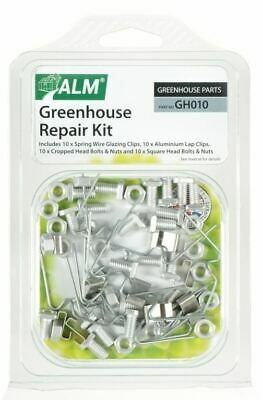 £6.49 • Buy ALM GH010 Greenhouse Repair Kit W Z Clips Square Nuts Bolts Fixing Spares Parts