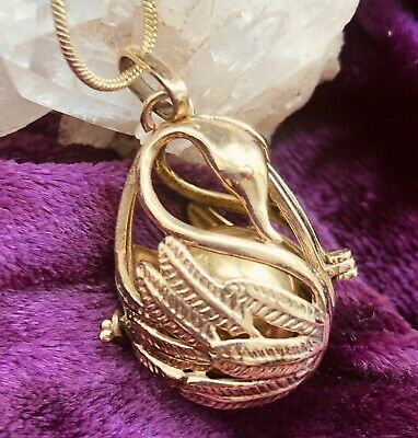 £12.99 • Buy Swans In Love Harmony Bell -Pendant/Locket Necklace, Chime, Pregnancy, Gift