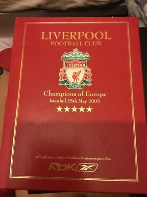 £410 • Buy Liverpool FC 2005 Limited Edition Istanbul Champions League Final Boxed Shirt