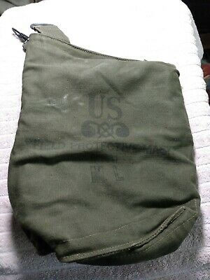 $22 • Buy  U.S. Military Vintage Field Canvas Bag  M9A1 Held Field Protective Mask
