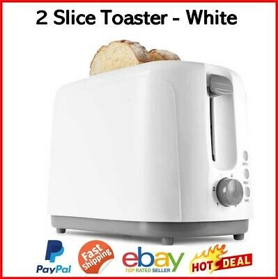 AU12.80 • Buy Toaster 2 Slice Bread Toast Maker 700W Defrost Reheat Cancel Buttons Electric