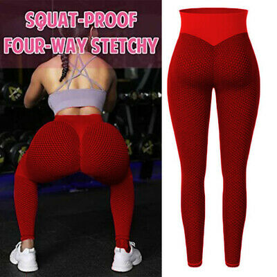AU30.49 • Buy Womens Push-Up Yoga Leggings Sports Pants High-Waist Ruched Gym Fitness Trousers
