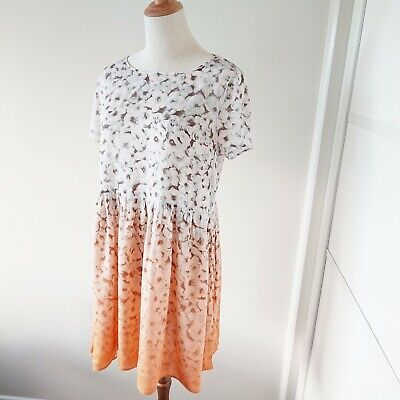 AU12.50 • Buy AS NEW Six 12 To 14 ASOS Ombre Print Summer Dress Whire Orange