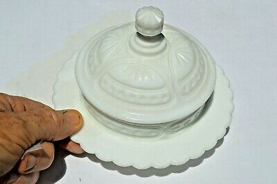 $20 • Buy Unusual Milk Glass Covered Butter Dish