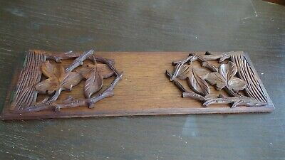 £25 • Buy Antique Victorian Wooden Hand Carved Book Stand / Shelf Super Colour