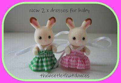 £3.99 • Buy Sylvanian Families Clothes, New Baby Dresses A For Rabbit, Cat, Fox Etc