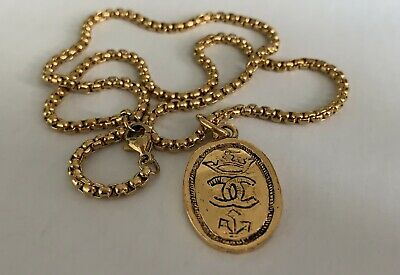 £221.51 • Buy AUTH CHANEL Vintage Coin Charm On A Necklace