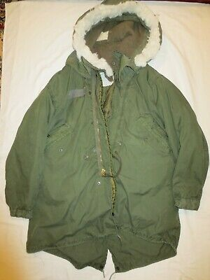 $160 • Buy Genuine US Army M-65  ECW Fishtail Parka Medium With Liner And Hood