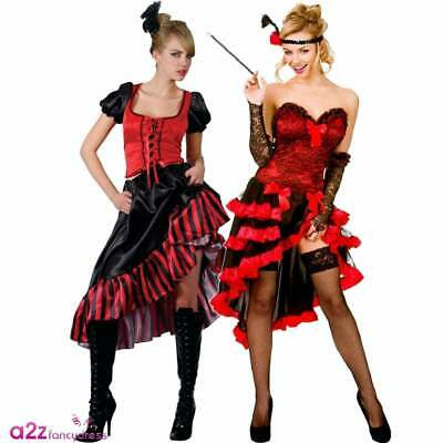£19.99 • Buy Ladies Sexy Wild West Showgirl Can Can Saloon Girl Burlesque Fancy Dress Costume