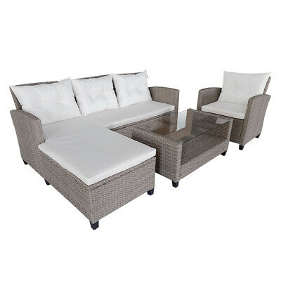 £479.99 • Buy 6 Seater Garden Rattan Set Sofa Furniture Dining Chairs Table Outdoor