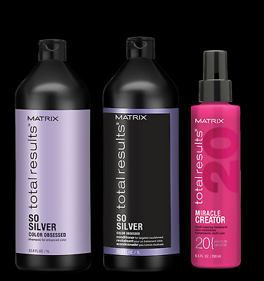 £42.99 • Buy Matrix Total Results - So Silver Duo (1000ml) & Miracle Creator 200ml