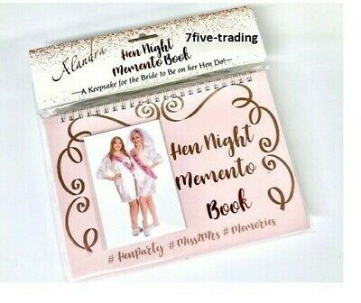 £3.49 • Buy Hen Party Night Memento Comments Photos Memory Scrapbook Book Bride To Be Gift