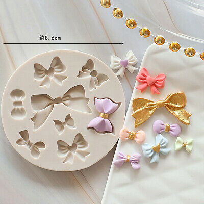 £3.55 • Buy Bow Ribbon Knot Silicone Fondant Mold Cake Topper Mould Chocolate Candy Baking