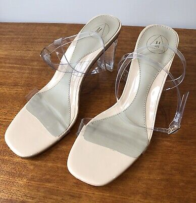£13.99 • Buy MISSGUIDED Clear / Nude Strappy Shoes - UK Size 5 - Worn Once