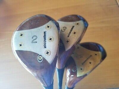 $44.80 • Buy Macgregor Tommy Armour  Woods Set Persimmon  2, 3, 4. Beautiful Golf Clubs