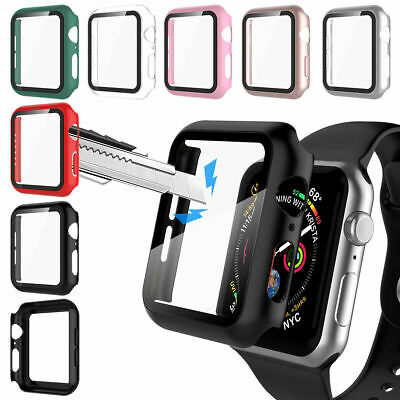 $ CDN5.70 • Buy IWatch Screen Protector Case Snap On Cover For Apple Watch Series 6 5 4 3 2 1 SE