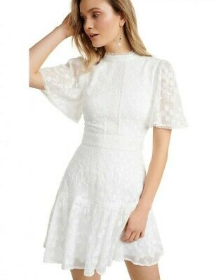 AU49.95 • Buy Forever New White Embroidered Dress Size 6