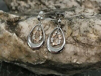 £89 • Buy Welsh Clogau Silver & Rose Gold Tree Of Life Drop Earrings £50 Off!