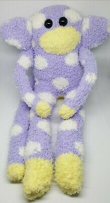 £6.50 • Buy Sock Monkey Victor Fathers Day Gift Hand Made Soft Toy Lilac White Spots