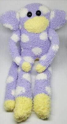£6.99 • Buy Sock Monkey Vincent Birthday Gift Hand Made Soft Toy Lilac White Spots