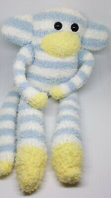 £6.50 • Buy Sock Monkey Blue Bell Fathers Day Gift Hand Made Soft Toy Blue And White Stripes