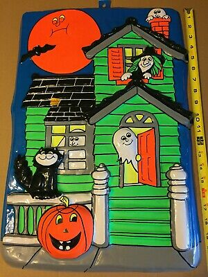 $ CDN39.41 • Buy Vintage Halloween Haunted House Blow Mold Large Nos!