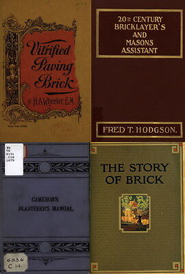 £9.20 • Buy 125 Old Books On Bricklaying, Plastering, Masonry Work And Stone Cutting On Dvd