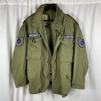 $165 • Buy Vietnam War US Air Force M65 Field Jacket Large Long Patched
