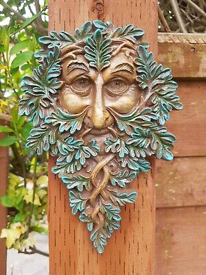 £13.99 • Buy GREEN MAN Of The Forest Resin Wall Plaque Decoration Gift Pagan Wiccan 20cm Long