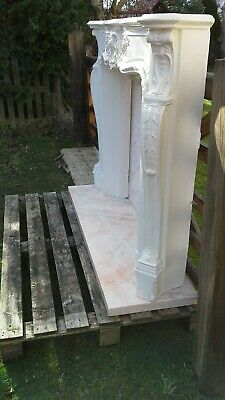 £150 • Buy Cast Plaster Fire Surround With Marble Hearth & Back