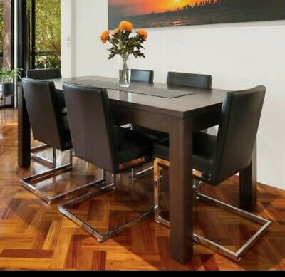 AU750 • Buy 6 Seater Tasmanian Oak Dining Table And Chairs