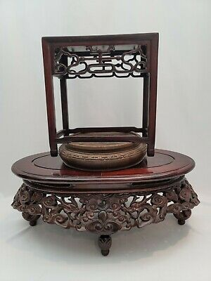 £49.25 • Buy Collection Of Vintage Chinese Carved Wood Stands