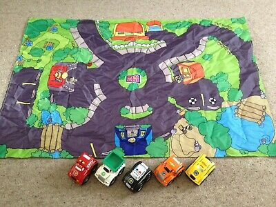 £6 • Buy Mega Bloks Play Mat & 5 Works Vehicles, Used But Good Condition